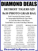 Diamond Deals Autographed Detroit Tigers Mystery 8x10 Photo Grab Bag