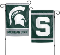 "Michigan State University Wincraft 2-Sided Garden Flag 12.5"" x 18"""