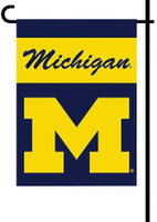 University of Michigan BSI Products 2-Sided Garden Flag