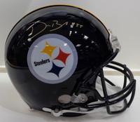 Devin Bush, Jr. Autographed Pittsburgh Steelers Authentic Helmet