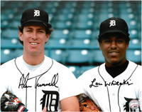 Alan Trammell and Lou Whitaker Autographed Detroit Tigers 11x14 Photo