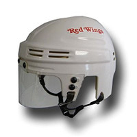 Luc Robitaille Autographed Detroit Red Wings Mini Helmet - White (Pre-Order)