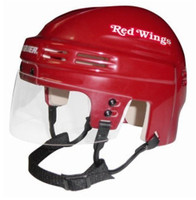 Luc Robitaille Autographed Detroit Red Wings Mini Helmet - Red (Pre-Order)