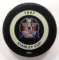 Mike Vernon Autographed 1997 Stanley Cup Playoffs Game Puck (Pre-Order)