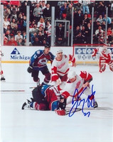Mike Vernon Autographed 8x10 Photo #4 - Lemieux Fight with McCarty's Autograph (Pre-Order)