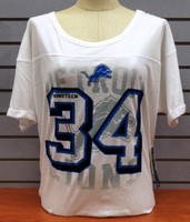 Detroit Lions Women's NFL Team Apparel Oversized White T-shirt
