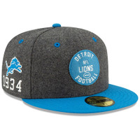 Detroit Lions New Men's Era Heather Charcoal/Blue 2019 NFL Sideline Home Official 59FIFTY 1930s Fitted Hat
