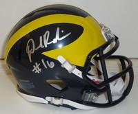 Denard Robinson Autographed Michigan Wolverines Mini Helmet (Speed)
