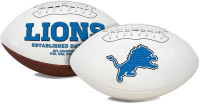 Matthew Stafford Autographed Signature Series NFL Detroit Lions White Panel Full Size Football (Pre-Order)