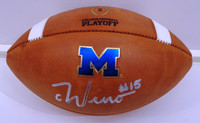 Chase Winovich Autographed Michigan Logo Official College Playoff Football