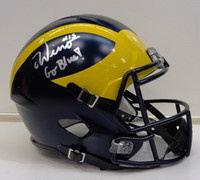 Chase Winovich Autographed Michigan Wolverines Deluxe Replica Speed Helmet
