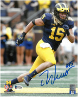 Chase Winovich Autographed 8x10 Photo #3 - Home Jersey Vertical