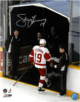 Steve Yzerman Autographed 11x14 Photo - The Last Step