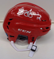 Steve Yzerman Autographed Full Size CCM Hockey Helmet - Red