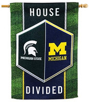 Copy of Michigan/Michigan State Team Sports America House Divided Banner Flag - 28 x 44 Inches