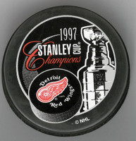 Mike Vernon Autographed 1997 Stanley Cup Champions Puck (Pre-Order)