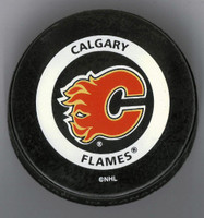 Mike Vernon Autographed Calgary Game Puck #1 (Pre-Order)