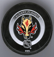 Mike Vernon Autographed Calgary Game Puck #2 (Pre-Order)