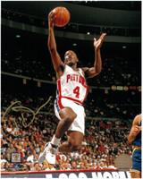 Joe Dumars Autographed Detroit Pistons 8x10 Photo #2 - Lay-Up
