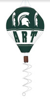 Michigan State University Team Sports America Hot Air Balloon Wind Spinner