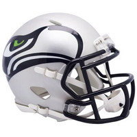 Seattle Seahawks Riddell AMP Alternate Revolution Speed Mini Football Helmet