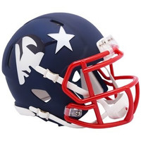 New England Patriots Riddell AMP Alternate Revolution Speed Mini Football Helmet