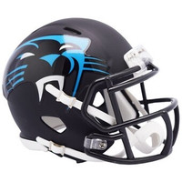 Carolina Panthers Riddell AMP Alternate Revolution Speed Mini Football Helmet