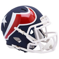 Houston Texans Riddell AMP Alternate Revolution Speed Mini Football Helmet