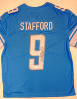 Matthew Stafford Autographed Detroit Lions Jersey - Blue Nike Limited