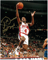 Joe Dumars Autographed Detroit Pistons 8x10 Photo #2 - Lay-Up (HOF 2006 Inscription)