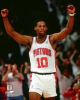 Dennis Rodman Autographed 8x10 Photo #2 - Pistons Arms Raised (Pre-Order)