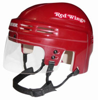 Tomas Holmstrom Autographed Detroit Red Wings Mini Helmet (Red) (Pre-Order)