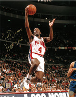 Joe Dumars Autographed Detroit Pistons 16x20 Photo #2 - Lay-Up (HOF 2006 Inscription)