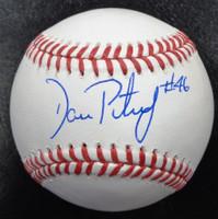 Dan Petry Autographed Baseball - Official Major League Ball
