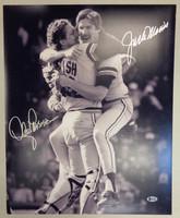 Lance Parrish & Jack Morris Autographed 16x20 Photo #2 - 1984 No Hitter