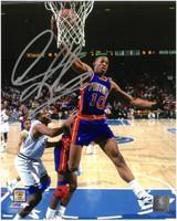 Dennis Rodman Autographed Detroit Pistons 8x10 Photo #1