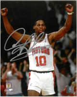 Dennis Rodman Autographed Detroit Pistons 8x10 Photo #2