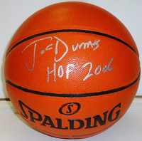 "Joe Dumars Autographed Basketball with ""HOF 2006"" Inscription"