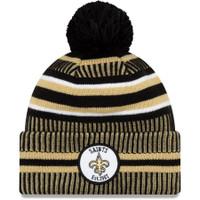 Men's New Era Black/Gold New Orleans Saints 2019 NFL Sideline Home Official Sport Knit Hat