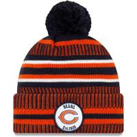 Men's New Era Navy-Orange Chicago Bears 2019 NFL Sideline Home Official Logo Sport Knit Hat