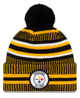 Men's New Era Pittsburgh Steelers 2019 NFL Sideline Home Official Logo Sport Knit Hat