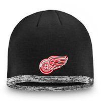 Men's Detroit Red Wings Fanatics Black Authentic Pro Rinkside Knit Beanie