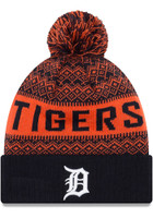 New Era Detroit Tigers Navy Blue Wintry Pom 2 Cuff Mens Knit Hat