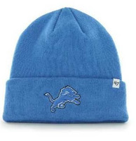 Detroit Lions Mens 47 Brand Blue Cuffed Knit Hat