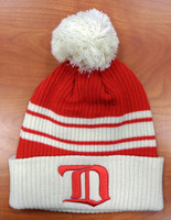 Detroit Red Wings Fanatics Vintage Hockey Winter Classic RW Logo Cuffed Knit Hat with Pom