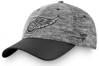 Detroit Red Wings Men's Fanatics Black Authentic Pro Clutch Flex Hat