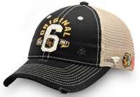 Original Six Men's NHL Fanatics Black/Tan Original Six Trucker Hat