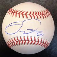 Travis Demeritte Autographed Baseball - Official Major League Ball