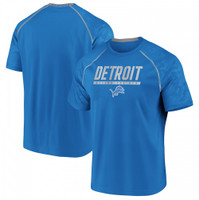 Detroit Lions Men's Fanatics Blue Mission Slant Defend The Den Tshirt