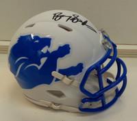 Barry Sanders Autographed Detroit Lions Mini AMP Helmet